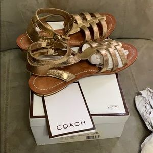 Authentic Coach Sabrina Gladiator Sandals Size 10B